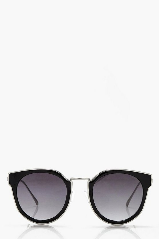 Ruby Black Trim Metal Sunglasses