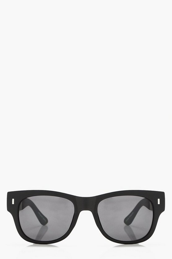 Lucy Black Frame Square Sunglasses
