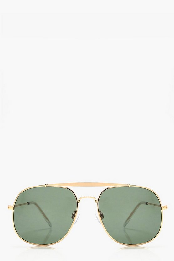 Natalia Retro Square Metal Sunglasses