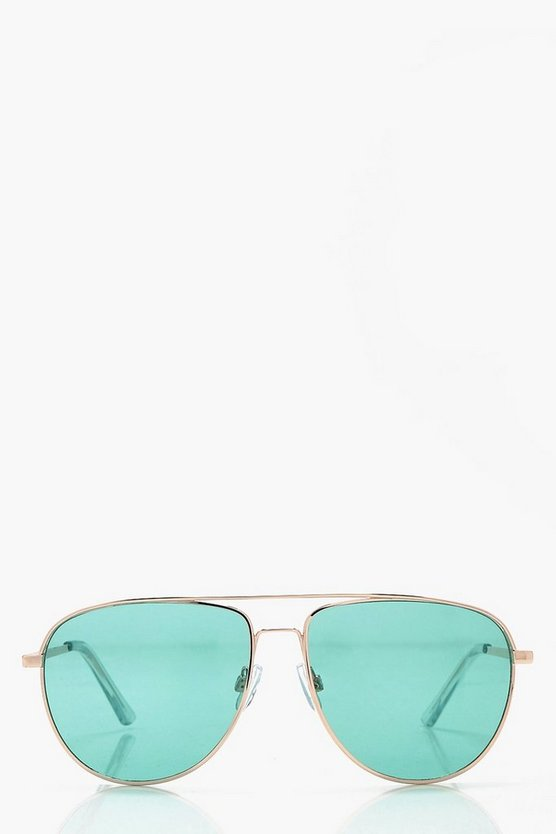 Laura Pastel Lense Aviator Sunglasses
