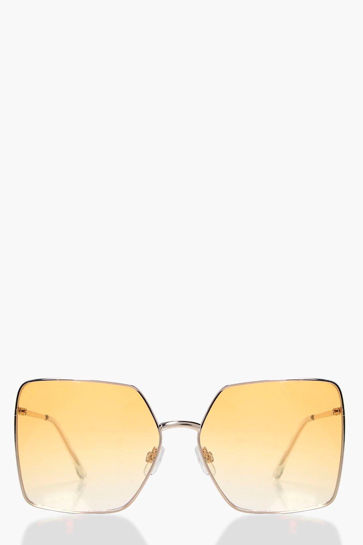Oversized 70s Sunglasses - yellow