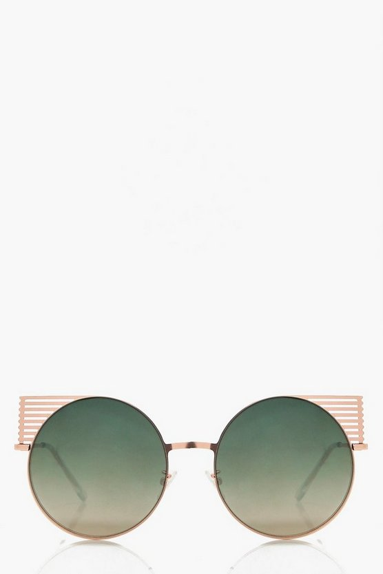Alice Metal Detail Round Sunglasses