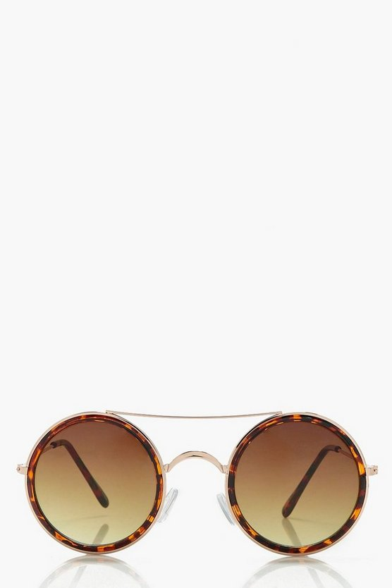 Eliza Brow Bar Circle Sunglasses