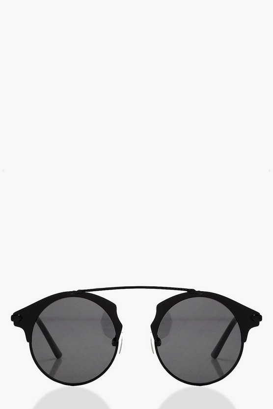 Amelie Brow Bar Metal Frame Sunglasses