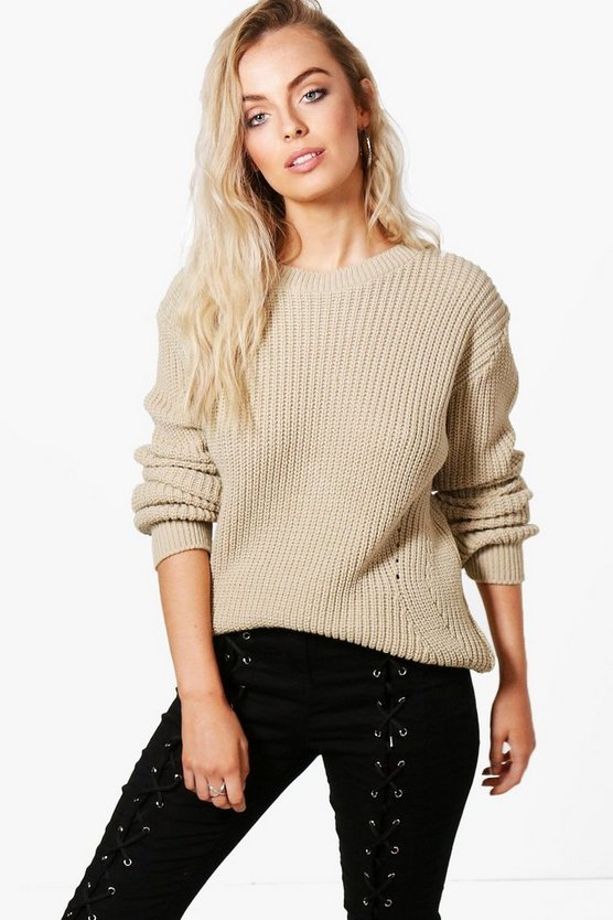 Jessica Stitch Detail Fisherman Jumper