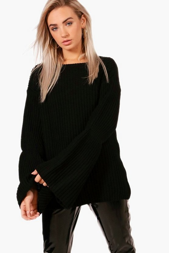Hannah Wide Sleeve Chunky Jumper