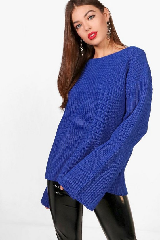 Wide Sleeve Chunky Jumper