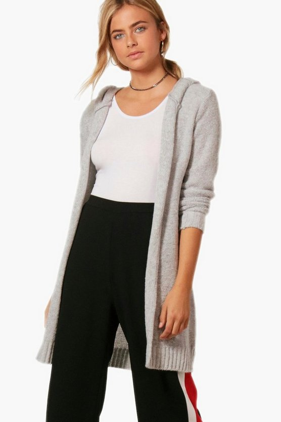 Keira Soft Knit Hooded Maxi Cardigan