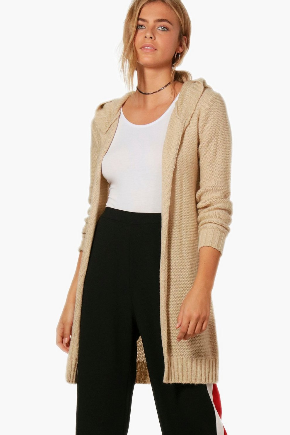 Keira Soft Knit Hooded Maxi Cardigan | Boohoo