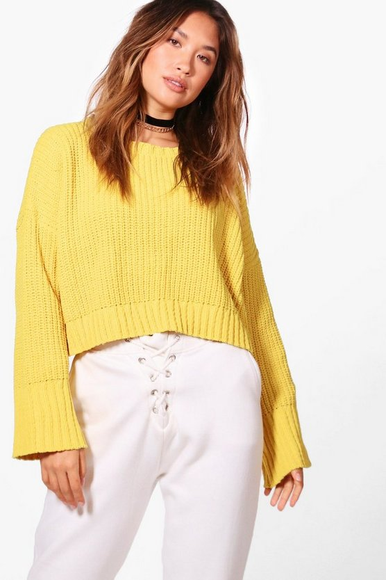 Katie Drop Shoulder Crop Chenille Jumper