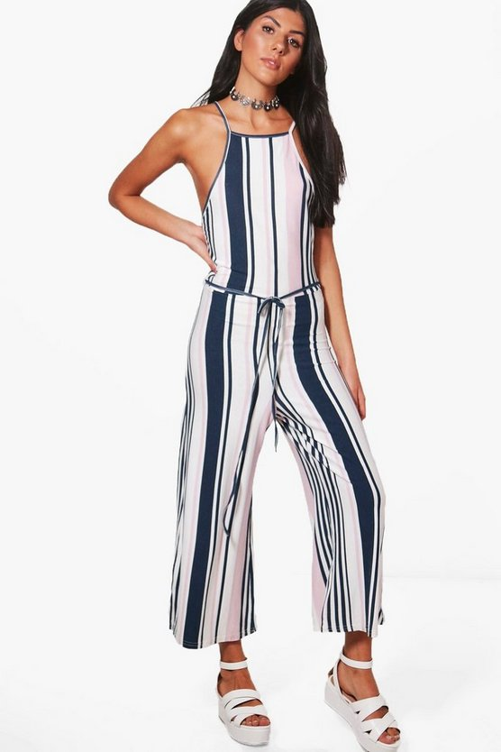 Kelsey Striped Culotte Jumpsuit