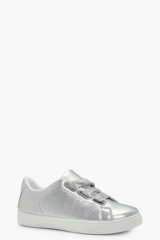 Emily Ribbon Lace Up Trainers