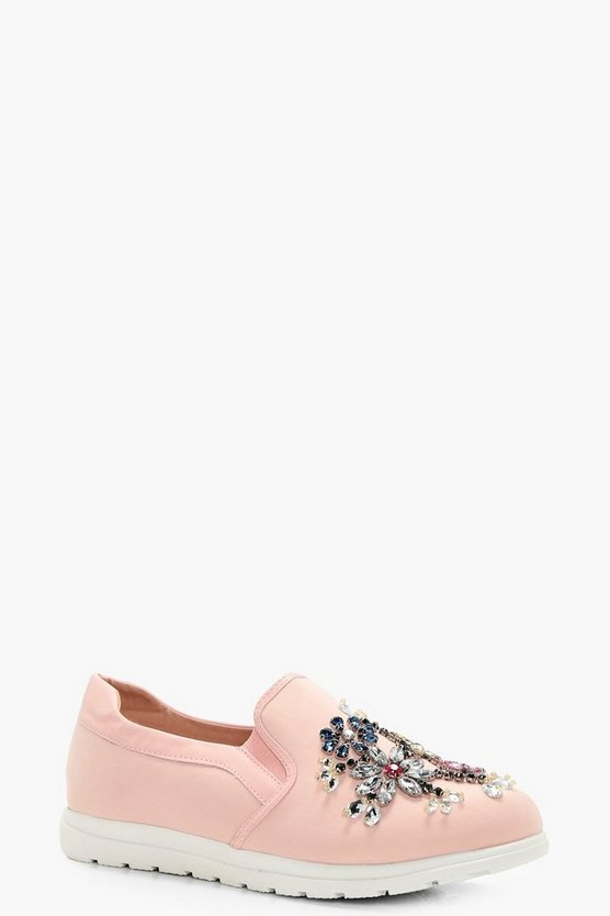 Leah Embellished Slip On Trainers