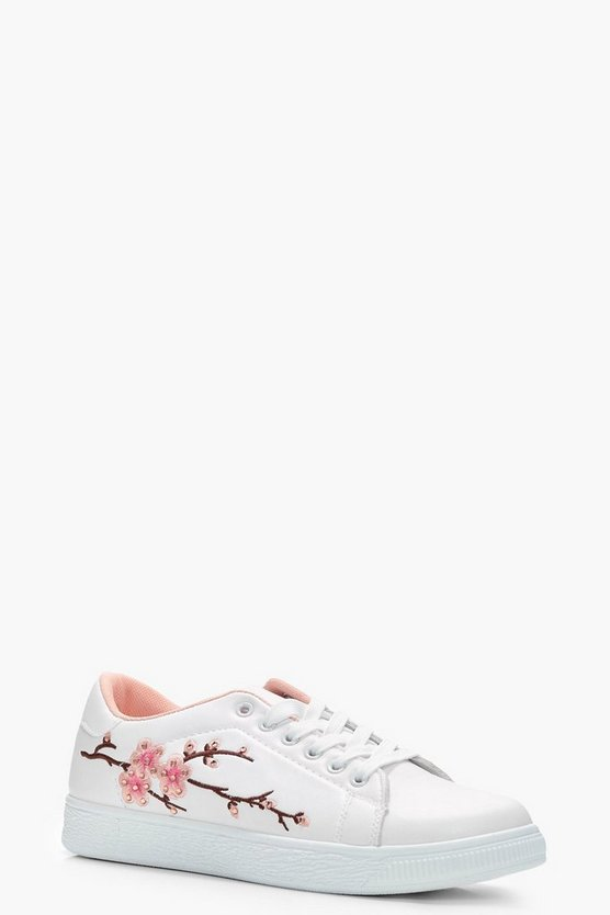 Sophie Floral Embroidered Trainer