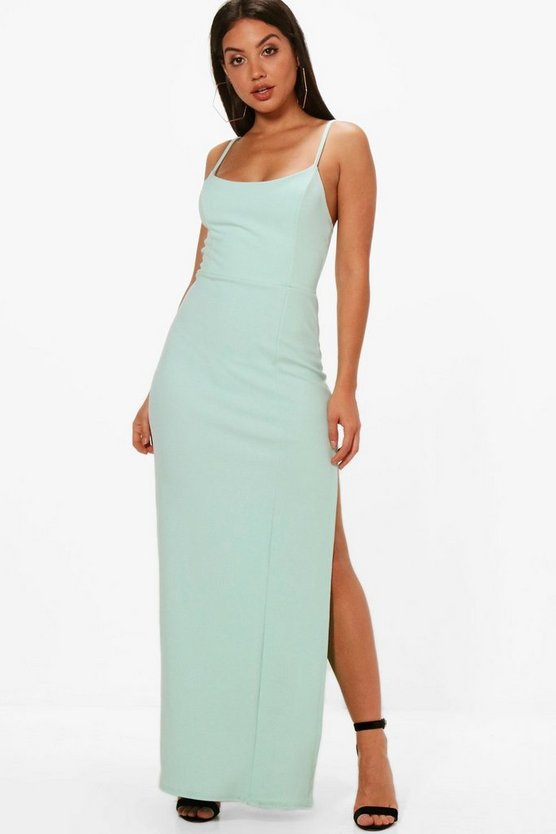Flo Strappy Split Detail Maxi Dress