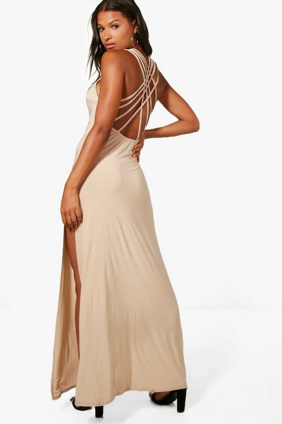 Kat Strappy Back Slinky Maxi Dress