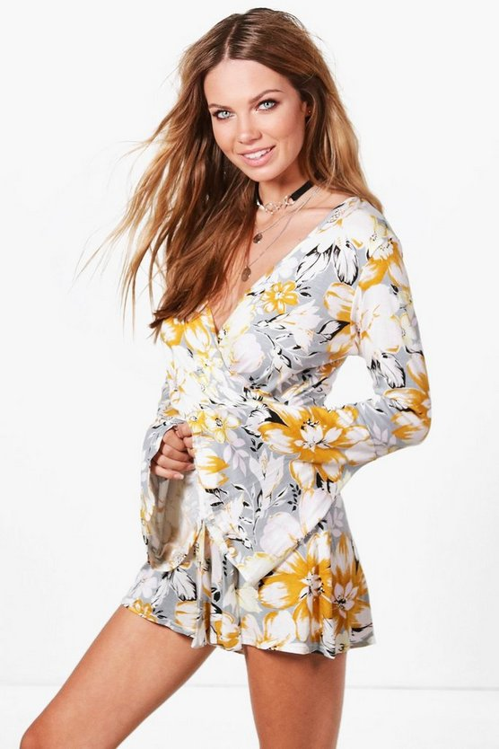 Lianne Floral Wrap Around Playsuit