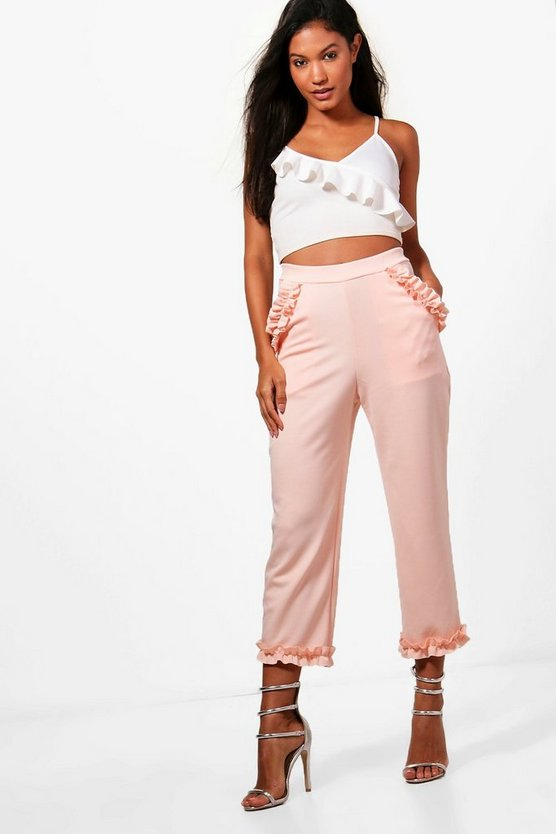 Ruby Micro Ruffle Detail Trousers