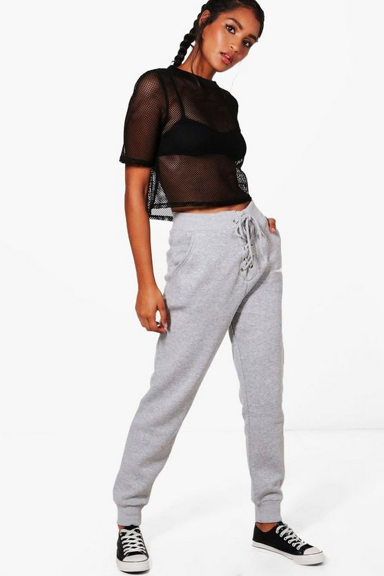 Frances Fit Lace Up Athleisure Joggers