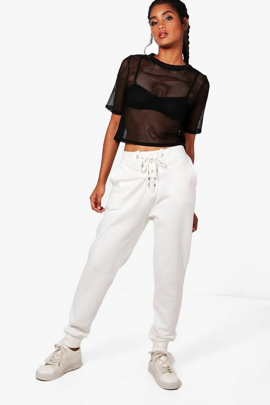 Edie Fit Lace Up Athleisure Joggers