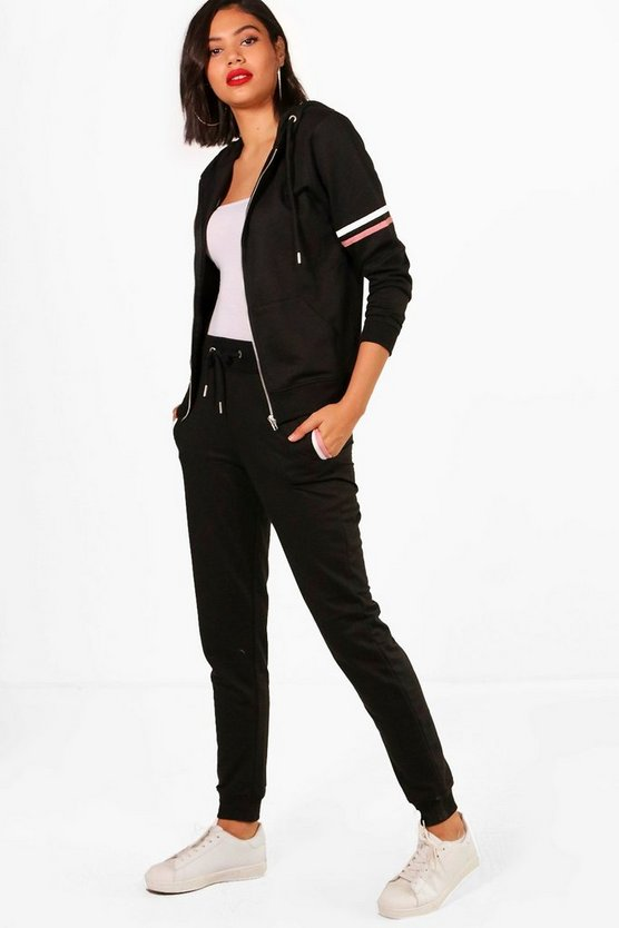 Nicole Fit Athleisure Zip Detail Tracksuit