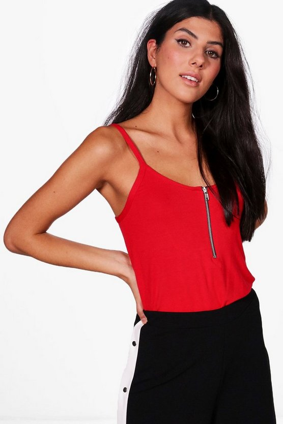 Evie Basic Zip Front Cami