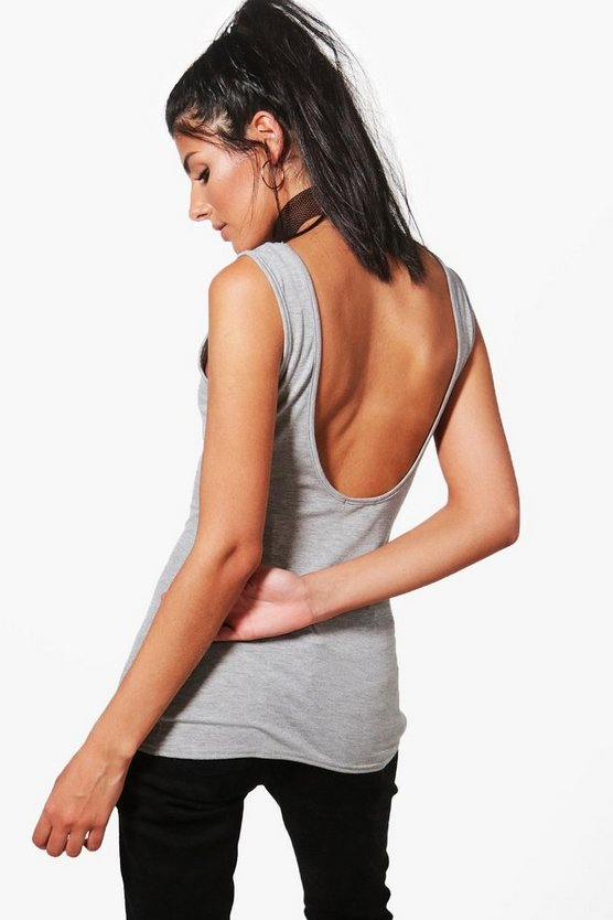 Amber Scoop Back Basic Vest