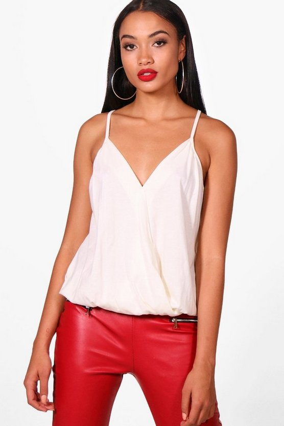 Heather Basic Wrap Over Vest