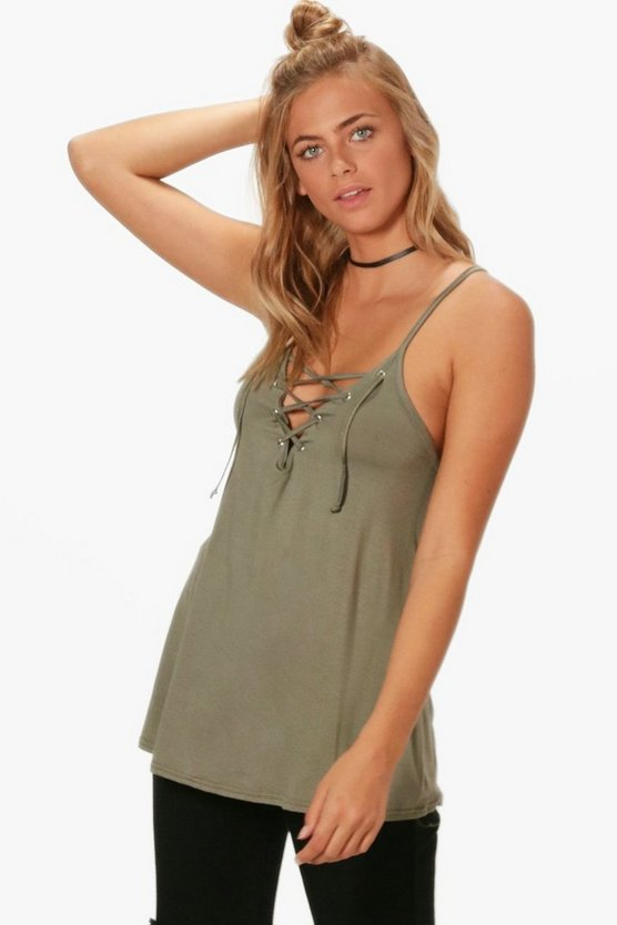 Lorna Lace Up Swing Cami