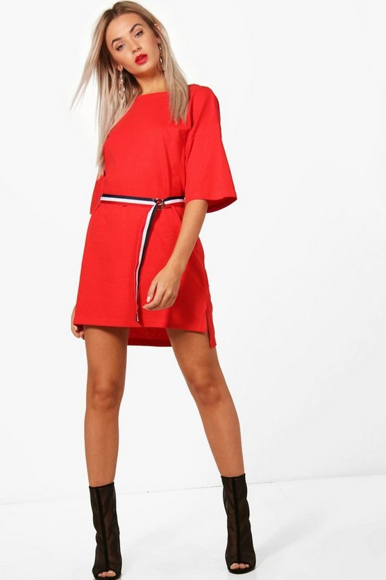 Holly Sports Tape Belted T-Shirt Dress