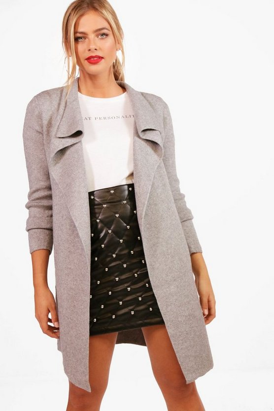 Leah Zip Pocket Waterfall Cardigan