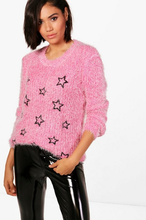 Harriet Eyelash Yarn Star Jumper