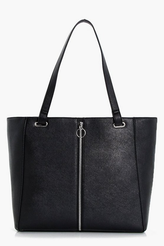 Caroline Ring Pull Zip Detail Tote