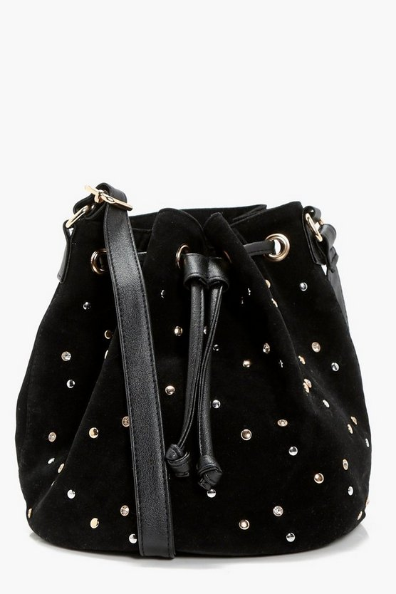 Kirsten Multi Stud Duffle Cross Body Bag