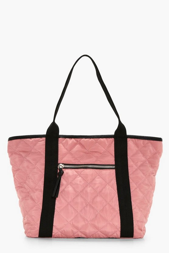 Holly Quilted Nylon Shopper Bag