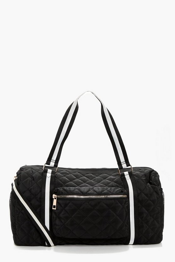 Sophie Quilted Nylon & Webbing Holdall