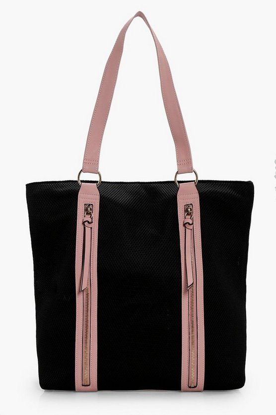 Emma Mesh & Contrast Bind Shopper Bag