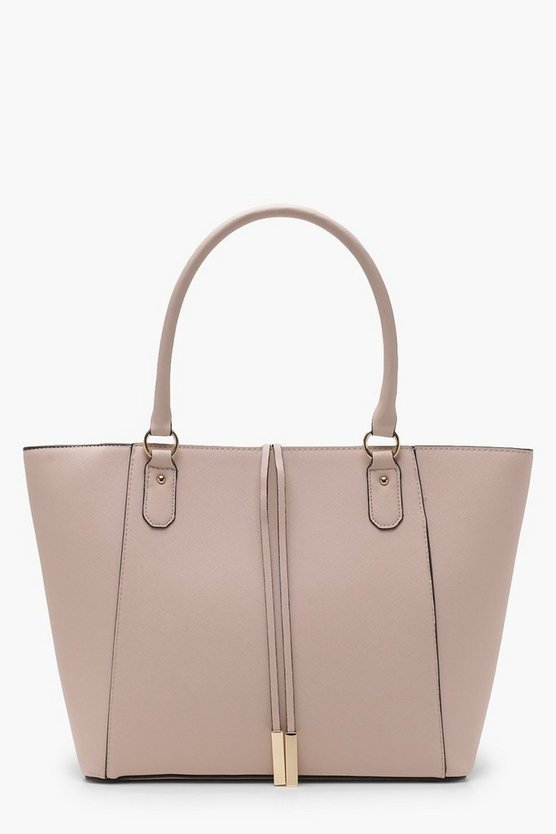 Emma Structured Cross Hatch Tote Bag