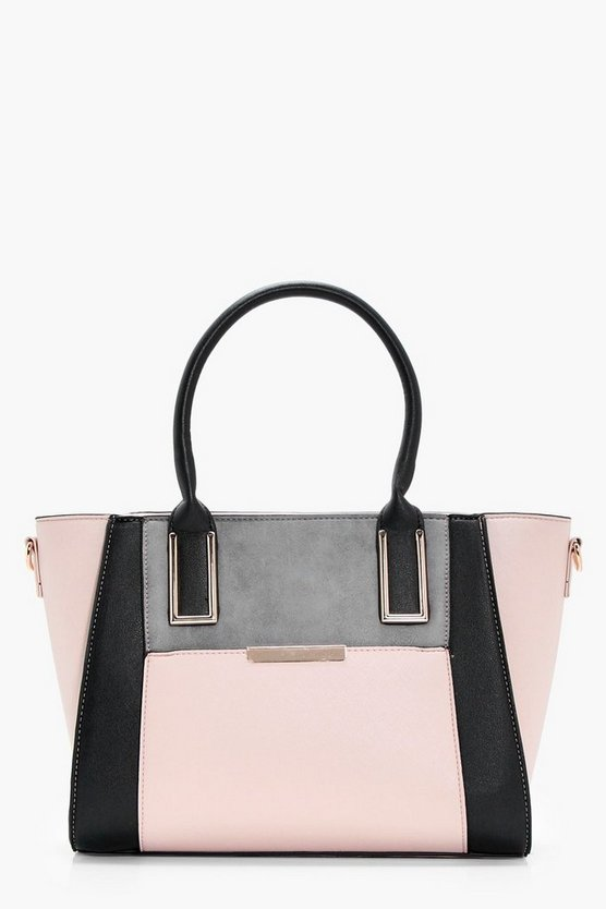 Sarah Colour Block Tote
