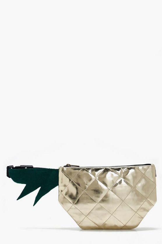 Lucy Metallic Pineapple Bumbag