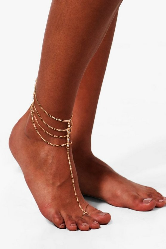 Louisa Diamante Detail Harness Anklet