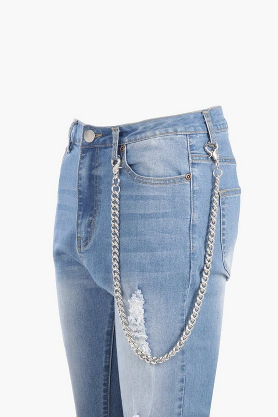 Kate Chunky Curb Jean Key Chain