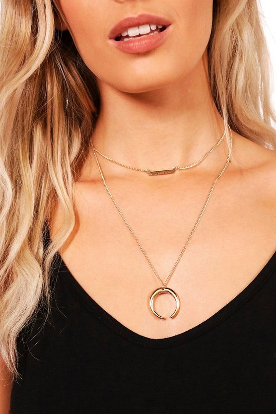 Kerry Layered Horn Chain Choker
