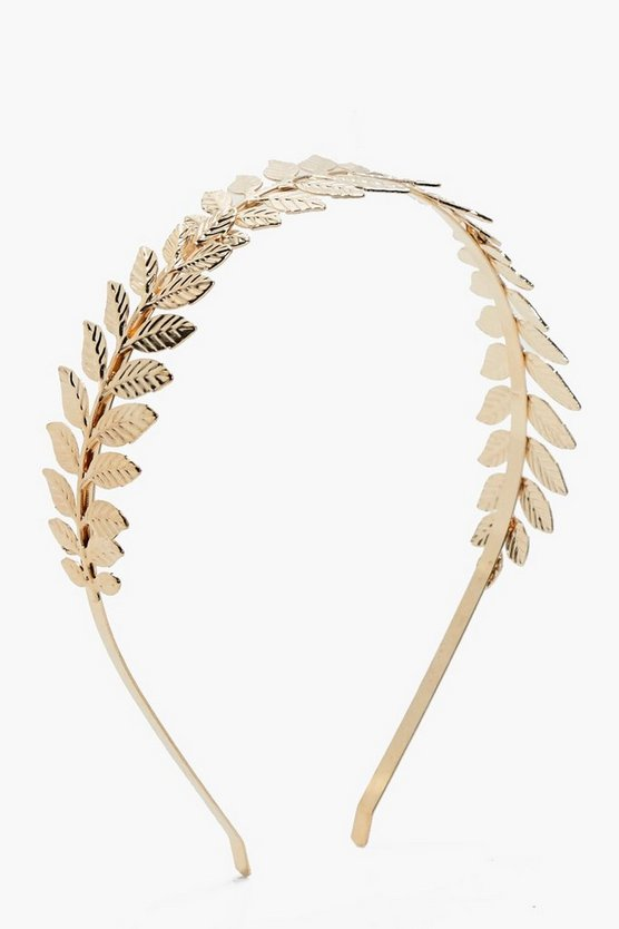 Kerry Grecian Leaf Metal Headband