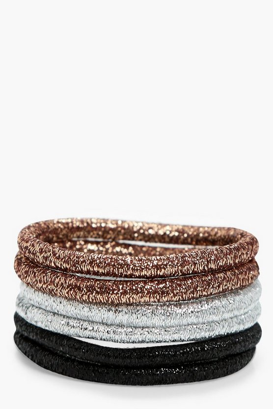 Sarah Metallic Hair Bobbles 6pk