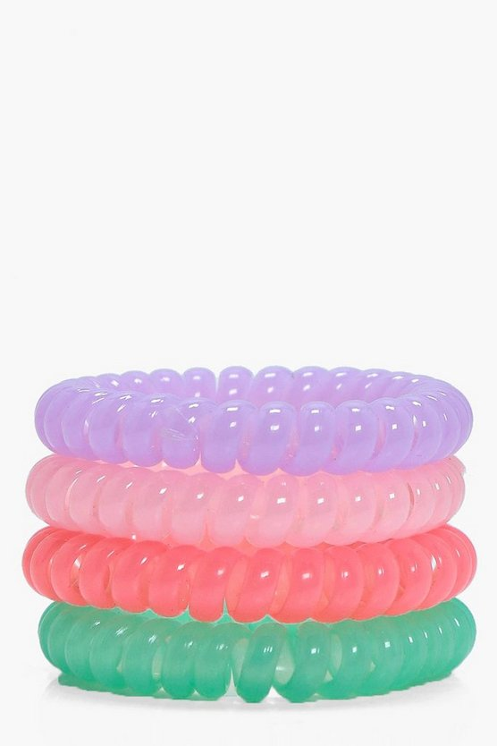 Natalie No Snag Hair Bands Pastels 4pk