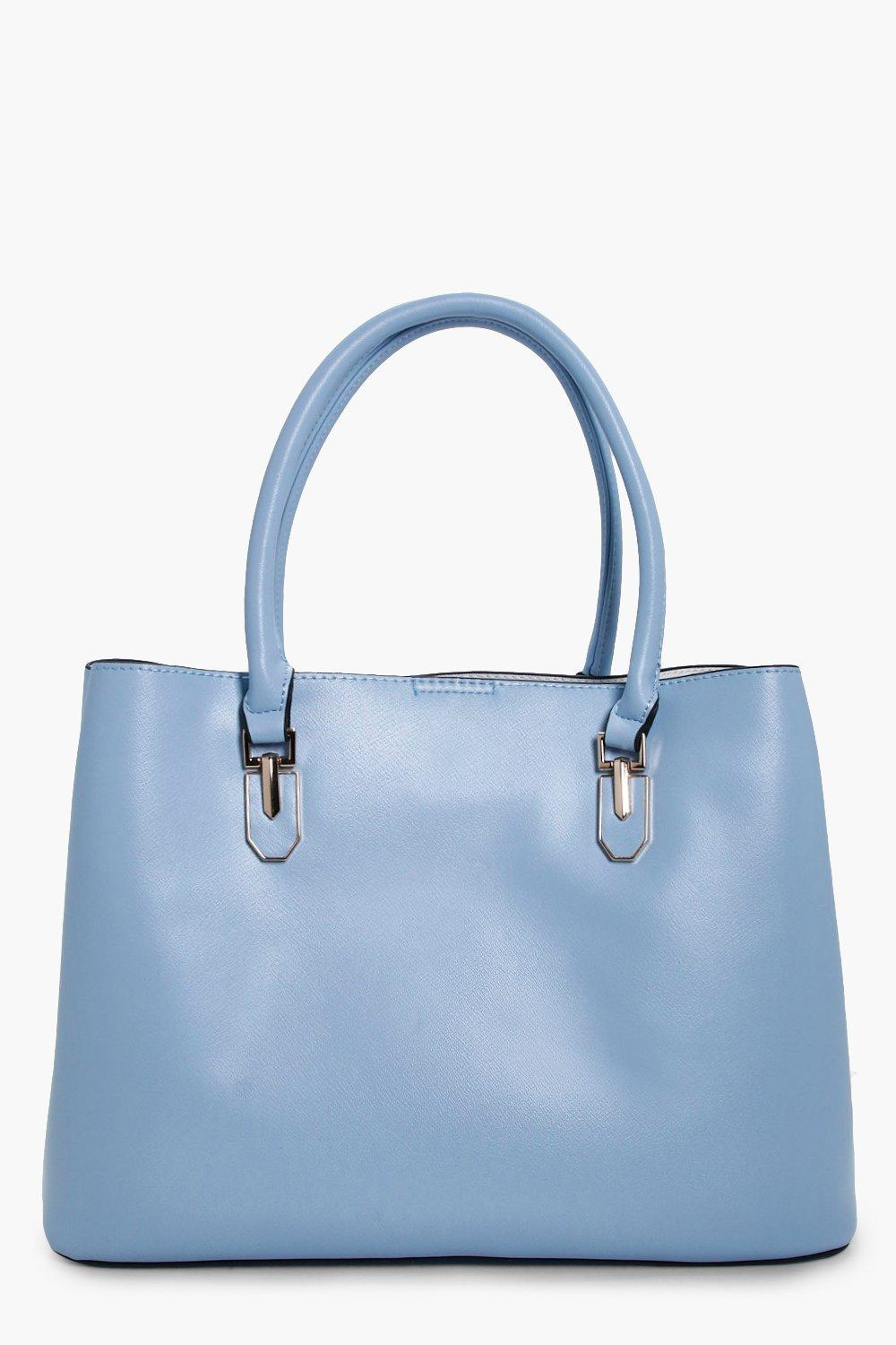 Metal Detail Tote - blue - Hannah Metal Detail Tot