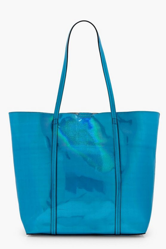 Holly Holographic Shopper Bag With Insert