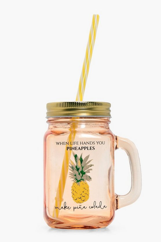 Pineapple Drinking Jar