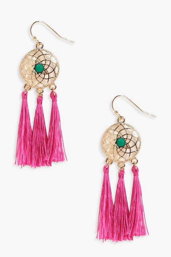 Nichole Dreamcatcher Tassel Earrings